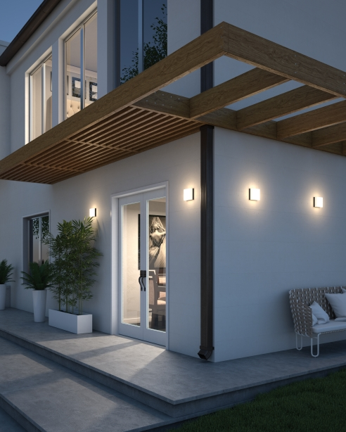 Boxie Small Outdoor Wall Flush Mount Details Tech Lighting
