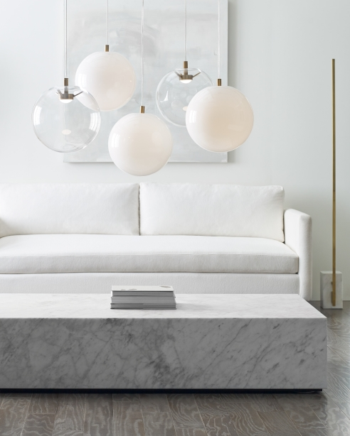 Palona: Clear / Aged Brass<br>White / Aged Brass<br> Klee70: Natural Brass/ White Marble