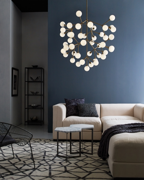 Mara grande chandelier details tech lighting for Contemporary chandeliers for living room