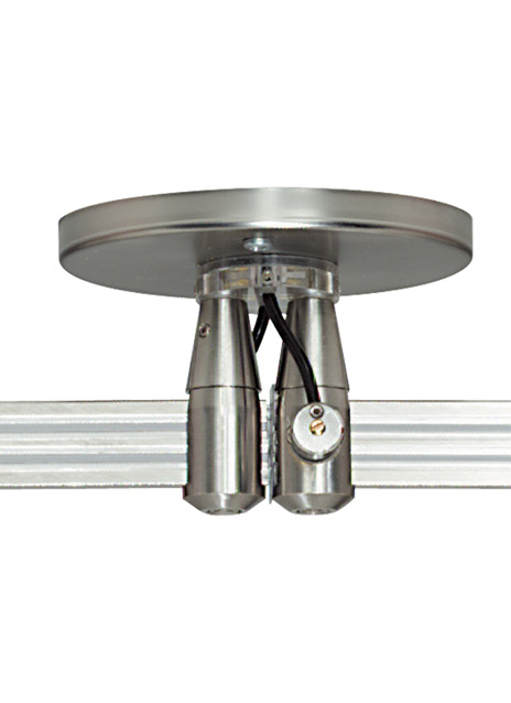 "Two-Circuit MonoRail 4"" Round Power Feed Canopy Dual-Feed"