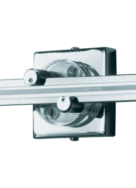 """Wall MonoRail 2"""" Square Power Feed Canopy Single-Feed"""