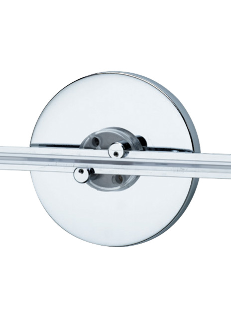 """Wall MonoRail 4"""" Round Power Feed Canopy Single-Feed"""