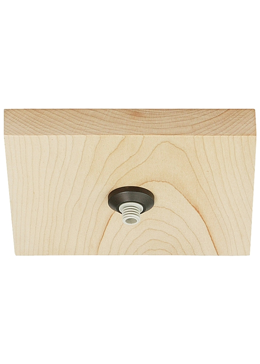 "Fusion Jack Canopy 4"" Square Flush Wood LED"