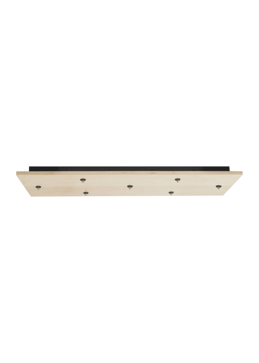 Fusion Jack Wood Canopy 7 Light Rectangle LED