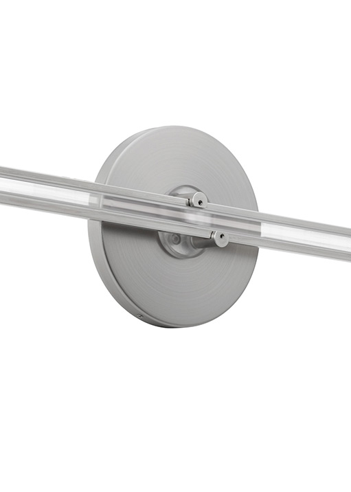 "Wall Monorail 4"" Round Direct Feed Canopy Single-Feed"
